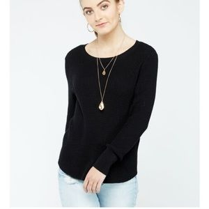 Black long sleeve sweater